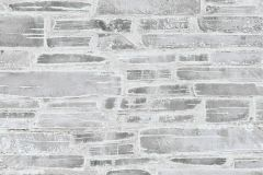 36459-2 cikkszámú tapéta.3d hatású,fotórealisztikus,kőhatású-kőmintás,szürke,gyengén mosható,papír tapéta