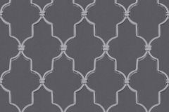 36502-3 cikkszámú tapéta.3d hatású,barokk-klasszikus,geometriai mintás,fekete,szürke,lemosható,vlies tapéta