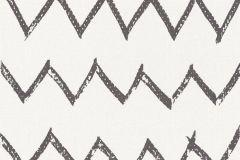 36574-2 cikkszámú tapéta.Geometriai mintás,fehér,fekete,lemosható,vlies tapéta