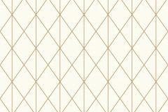 36575-1 cikkszámú tapéta.Geometriai mintás,arany,fehér,lemosható,vlies tapéta