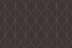36575-4 cikkszámú tapéta.Geometriai mintás,fekete,lemosható,vlies tapéta