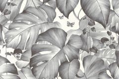 36625-2 cikkszámú tapéta.állatok,különleges motívumos,rajzolt,természeti mintás,fehér,fekete,szürke,lemosható,vlies tapéta