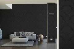 5526-31 cikkszámú tapéta.Barokk-klasszikus,fekete,lemosható,papír tapéta