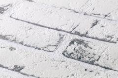 9078-37 cikkszámú tapéta.Kőhatású-kőmintás,fehér,szürke,lemosható,vlies tapéta