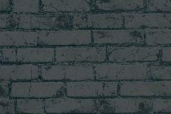 9078-82 cikkszámú tapéta.Egyszínű,kőhatású-kőmintás,fekete,lemosható,vlies tapéta