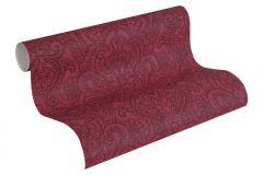 36458-4 cikkszámú tapéta.Különleges felületű,különleges motívumos,marokkói ,rajzolt,fekete,piros-bordó,súrolható,vlies tapéta