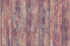 36460-1 cikkszámú tapéta.Dekor,fa hatású-fa mintás,lila,piros-bordó,türkiz,súrolható,illesztés mentes,vlies tapéta
