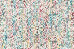 36461-1 cikkszámú tapéta.Absztrakt,különleges felületű,különleges motívumos,kék,narancs-terrakotta,piros-bordó,sárga,zöld,súrolható,vlies tapéta