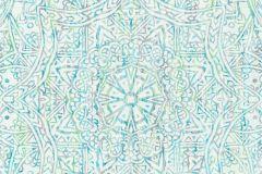 36461-2 cikkszámú tapéta.Absztrakt,különleges felületű,különleges motívumos,kék,türkiz,zöld,súrolható,vlies tapéta