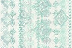 36466-1 cikkszámú tapéta.Absztrakt,különleges felületű,különleges motívumos,szürke,türkiz,zöld,súrolható,illesztés mentes,vlies tapéta