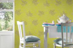 32264-2 cikkszámú tapéta.Különleges felületű,metál-fényes,természeti mintás,sárga,szürke,zöld,súrolható,vlies tapéta