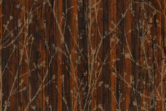 32713-2 cikkszámú tapéta.Különleges motívumos,metál-fényes,természeti mintás,barna,narancs-terrakotta,szürke,vajszínű,súrolható,vlies tapéta