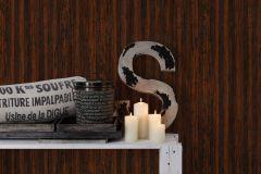 32714-2 cikkszámú tapéta.Fa hatású-fa mintás,természeti mintás,barna,fekete,narancs-terrakotta,súrolható,illesztés mentes,vlies tapéta
