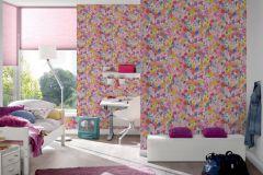 30450-1 cikkszámú tapéta.Természeti mintás,virágmintás,bézs-drapp,fehér,kék,lila,narancs-terrakotta,pink-rózsaszín,piros-bordó,sárga,zöld,gyengén mosható,papír tapéta