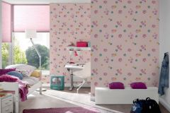 30460-1 cikkszámú tapéta.Gyerek,természeti mintás,virágmintás,bézs-drapp,kék,pink-rózsaszín,sárga,zöld,gyengén mosható,papír tapéta