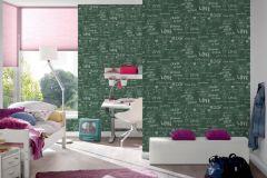 30465-1 cikkszámú tapéta.Feliratos-számos,gyerek,fehér,zöld,lemosható,vlies tapéta