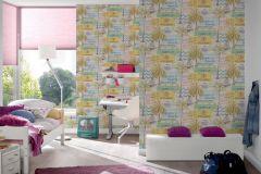 30469-1 cikkszámú tapéta.Feliratos-számos,gyerek,természeti mintás,barna,bézs-drapp,kék,lila,sárga,zöld,gyengén mosható,papír tapéta