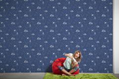 30489-1 cikkszámú tapéta.Gyerek,különleges motívumos,fehér,kék,gyengén mosható,illesztés mentes,papír tapéta