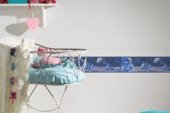 30490-1 cikkszámú tapéta.Gyerek,különleges motívumos,bézs-drapp,fehér,kék,papír bordűr
