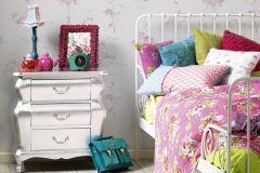 30528-2 cikkszámú tapéta.Emberek-sztárok,gyerek,bézs-drapp,lila,pink-rózsaszín,lemosható,papír tapéta