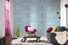 30568-1 cikkszámú tapéta.Gyerek,különleges motívumos,barna,fehér,kék,lila,pink-rózsaszín,piros-bordó,sárga,zöld,gyengén mosható,papír tapéta