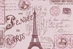 93630-2 cikkszámú tapéta.Feliratos-számos,gyerek,lila,pink-rózsaszín,gyengén mosható,papír tapéta
