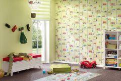 93632-2 cikkszámú tapéta.Gyerek,fehér,fekete,kék,piros-bordó,sárga,szürke,zöld,gyengén mosható,illesztés mentes,papír tapéta