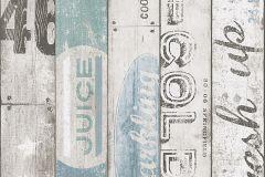 95950-3 cikkszámú tapéta.Fa hatású-fa mintás,feliratos-számos,gyerek,fehér,fekete,kék,szürke,zöld,gyengén mosható,papír tapéta