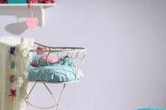2194-80 cikkszámú tapéta.Gyerek,különleges felületű,pöttyös,bézs-drapp,lila,szürke,lemosható,illesztés mentes,vlies tapéta