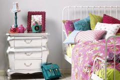 30334-1 cikkszámú tapéta.Egyszínű,különleges felületű,fehér,gyengén mosható,illesztés mentes,papír tapéta