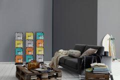 3095-49 cikkszámú tapéta.Egyszínű,különleges felületű,szürke,lemosható,illesztés mentes,vlies tapéta