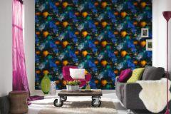 34066-1 cikkszámú tapéta.3d hatású,gyerek,különleges felületű,fehér,fekete,kék,narancs-terrakotta,sárga,szürke,zöld,gyengén mosható,papír tapéta