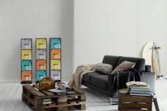 34301-1 cikkszámú tapéta.Kőhatású-kőmintás,különleges felületű,fehér,szürke,gyengén mosható,papír tapéta