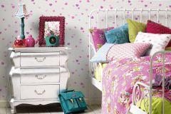 35750-2 cikkszámú tapéta.Csillámos,gyerek,különleges felületű,különleges motívumos,ezüst,fehér,pink-rózsaszín,lemosható,illesztés mentes,papír tapéta