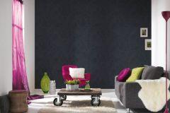 35816-2 cikkszámú tapéta.állatok,különleges felületű,rajzolt,virágmintás,fekete,lemosható,vlies tapéta