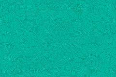 35816-3 cikkszámú tapéta.állatok,különleges felületű,rajzolt,virágmintás,zöld,lemosható,vlies tapéta