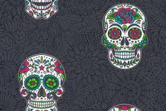35817-3 cikkszámú tapéta.Különleges felületű,különleges motívumos,rajzolt,fekete,kék,pink-rózsaszín,piros-bordó,szürke,zöld,lemosható,vlies tapéta