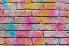 36100-1 cikkszámú tapéta.Kőhatású-kőmintás,különleges felületű,kék,lila,narancs-terrakotta,pink-rózsaszín,sárga,vlies tapéta