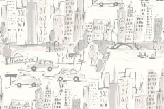 36753-3 cikkszámú tapéta.Gyerek,különleges felületű,rajzolt,ezüst,fehér,szürke,gyengén mosható,papír tapéta