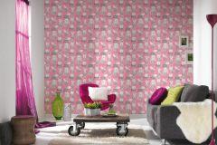 36755-2 cikkszámú tapéta.állatok,különleges felületű,metál-fényes,rajzolt,bézs-drapp,fekete,gyöngyház,pink-rózsaszín,gyengén mosható,papír tapéta