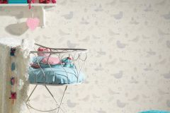 36756-1 cikkszámú tapéta.állatok,csillámos,gyerek,különleges felületű,rajzolt,bézs-drapp,ezüst,szürke,lemosható,papír tapéta