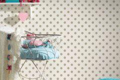 36934-1 cikkszámú tapéta.Gyerek,különleges felületű,pöttyös,barna,fehér,lemosható,vlies tapéta