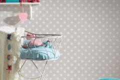 36934-2 cikkszámú tapéta.Gyerek,különleges felületű,pöttyös,fehér,szürke,lemosható,vlies tapéta