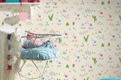 36985-1 cikkszámú tapéta.állatok,gyerek,különleges felületű,rajzolt,bézs-drapp,fehér,kék,piros-bordó,zöld,lemosható,illesztés mentes,vlies tapéta