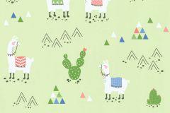 36985-2 cikkszámú tapéta.állatok,gyerek,különleges felületű,rajzolt,fehér,kék,piros-bordó,zöld,lemosható,illesztés mentes,vlies tapéta
