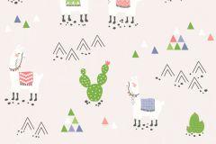 36985-3 cikkszámú tapéta.állatok,gyerek,különleges felületű,rajzolt,fehér,kék,piros-bordó,szürke,zöld,lemosható,illesztés mentes,vlies tapéta