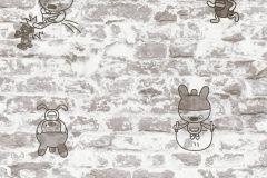 36987-2 cikkszámú tapéta.Gyerek,kőhatású-kőmintás,különleges felületű,rajzolt,szürke,gyengén mosható,papír tapéta