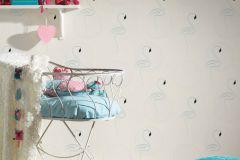 36998-1 cikkszámú tapéta.állatok,csillámos,gyerek,különleges felületű,ezüst,fehér,lemosható,vlies tapéta