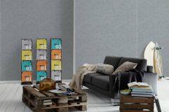 6910-19 cikkszámú tapéta.Egyszínű,különleges felületű,szürke,gyengén mosható,illesztés mentes,papír tapéta