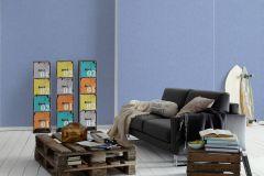 7584-84 cikkszámú tapéta.Egyszínű,különleges felületű,kék,illesztés mentes,gyengén mosható,papír tapéta